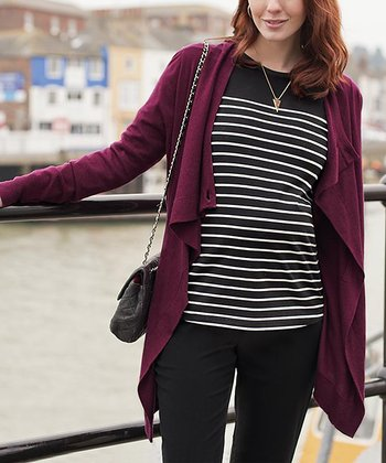 Bordeaux Maternity & Nursing Four-in-One Cardigan