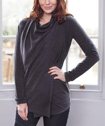 Charcoal Maternity & Nursing Four-in-One Cardigan