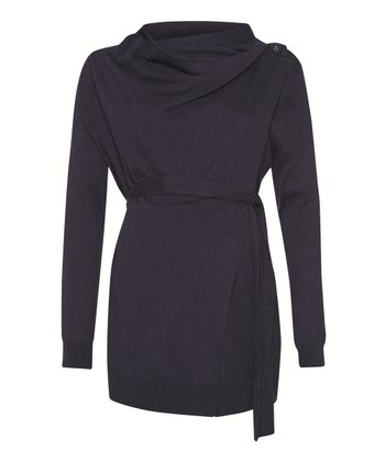 Navy Maternity & Nursing Four-in-One Cardigan