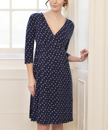 Ditsy Labour Maternity & Nursing Nightgown