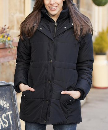 Black Puffa Maternity Jacket