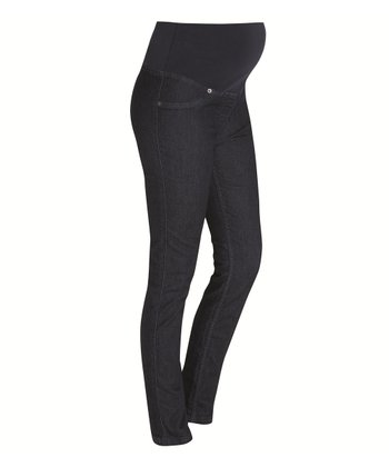 Indigo Over-Belly Maternity Denim Jeggings