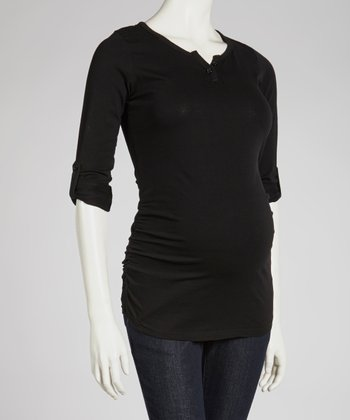 Black Maternity Henley