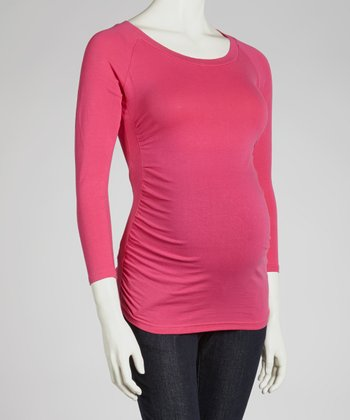 Fuchsia Maternity Top