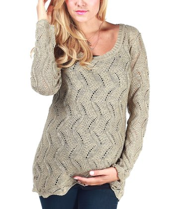 Mocha Sparkle Maternity Sweater