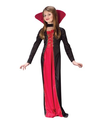 Red Victorian Vampiress Dress-Up Set - Girls