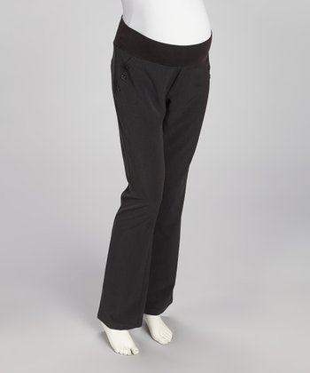 Charcoal Under-Belly Maternity Trouser Pants - Women