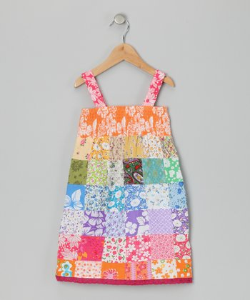 Rainbow Patchwork Dress - Toddler & Girls