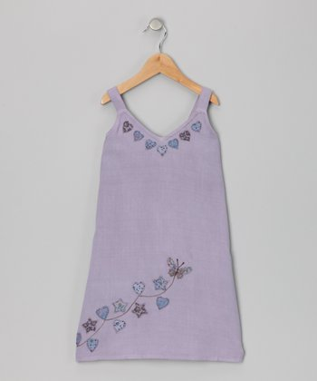 Lavender Heart Dress - Toddler & Girls
