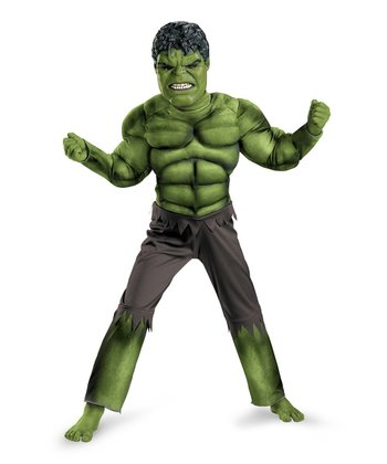 Green Hulk Avengers Classic Muscle Dress-Up Set - Toddler & Boys