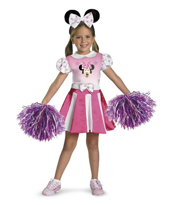 Pink Minnie Mouse Cheerleader Dress-Up Set - Girls
