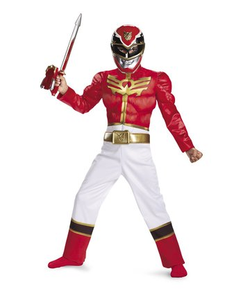 Red Ranger Mega Force Classic Muscle Dress-Up Set - Boys