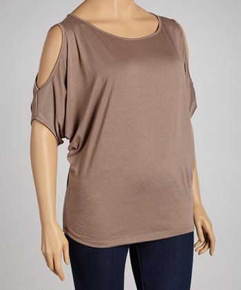 Mocha Cutout Top - Plus
