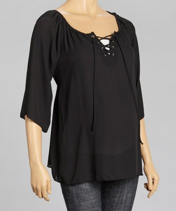 Black Sheer Maternity Top - Women