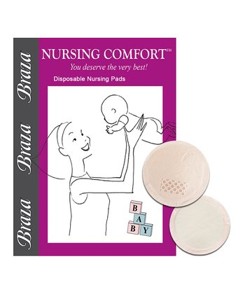 White & Light Pink Disposable Nursing Pads - Set of 72