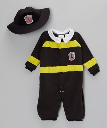 Black Little Firefighter Dress-Up Set - Infant