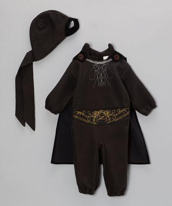 Black Zorro Fleece Dress-Up Set - Infant