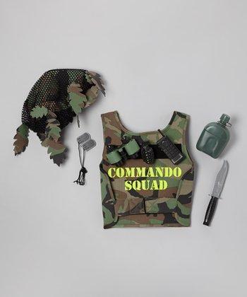 Green Commando Squad Dress-Up Set - Kids