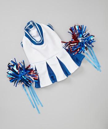 White Cheerleader Pet Costume
