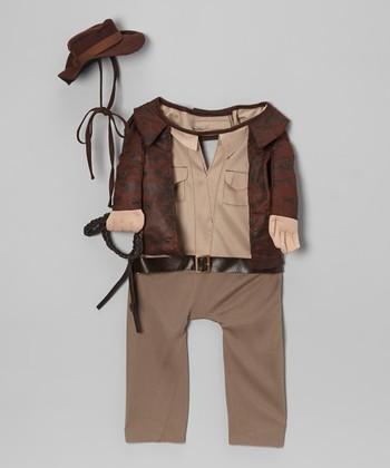 Brown Indiana Jones Pet Costume
