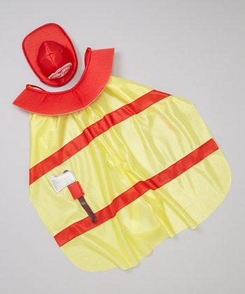 Yellow Fire Chief Pet Costume