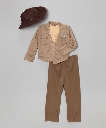 Brown Deluxe Indiana Jones Dress-Up Set - Boys