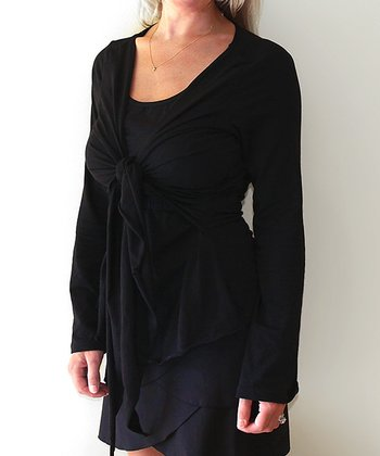 Black Long-Sleeve Top - Women