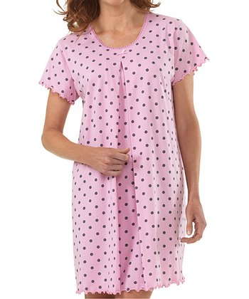 Pink Dot Delivery Gown - Women