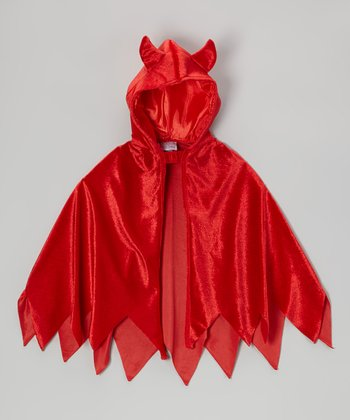 Red Devil Dress-Up Hooded Cape