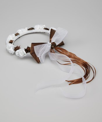 Chocolate Flower Bow Halo