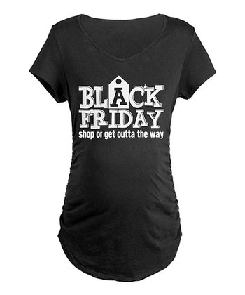 Black 'Black Friday' Maternity Tee