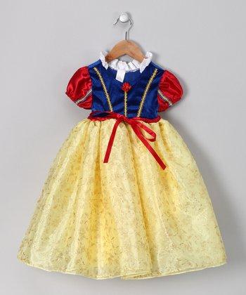 Red & Blue Glitter Dress - Toddler & Girls