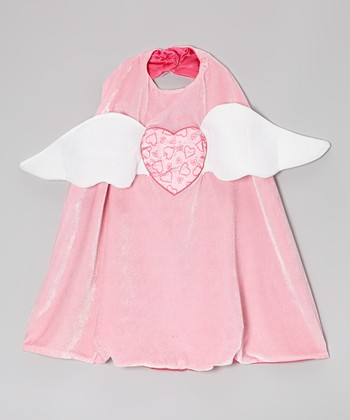 Pink Angel Heart Reversible Cape