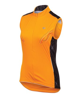 Safety Orange SELECT Cycling Sleeveless Jersey