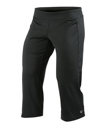 Black Aurora Low-Rise Capri Pants