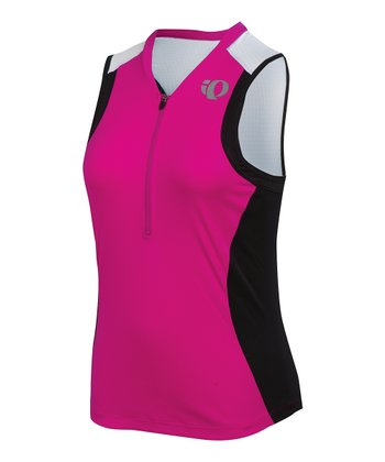Pink Punch & Black SELECT Triathlon Sleeveless Jersey