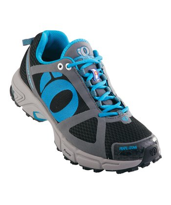 Black & Shadow Gray Syncro Fuel Trail II Running Shoe - Women