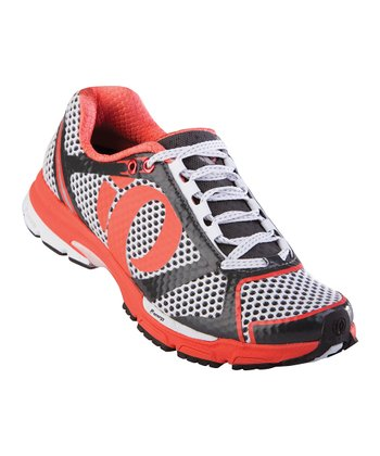 White & Coral Kissaki Running Shoe - Women