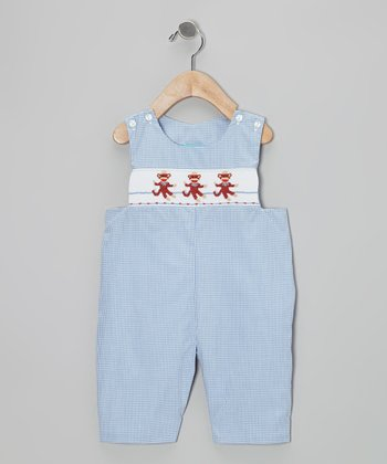 Light Blue Monkey Business Gingham John Johns - Infant & Toddler