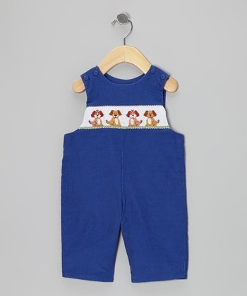 Royal Blue Bow Wow Corduroy John Johns - Infant & Toddler