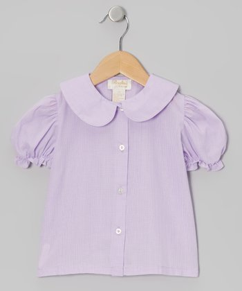 Purple Gingham Button-Up - Infant & Girls