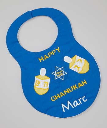 Royal Blue 'Chanukah' Personalized Bib