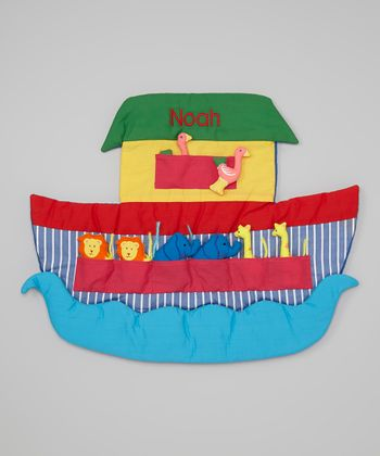 Blue & Red Noah's Ark Personalized Wall Hanging