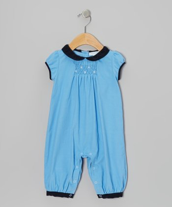 Blue Corduroy Playsuit - Infant
