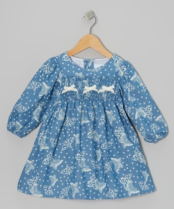 Ivory Butterfly Bow Dress - Infant & Toddler