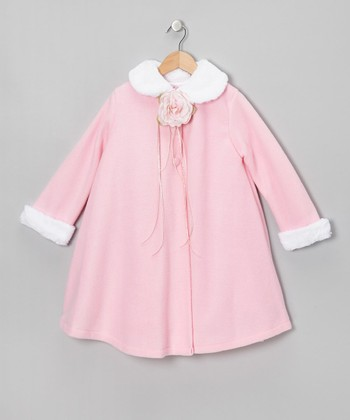 Pink Rose Fleece Coat - Toddler & Girls