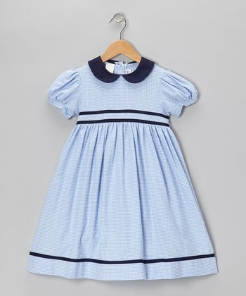 Blue Gingham Dress - Toddler & Girls