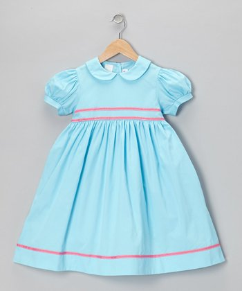 Aqua & Pink Dress - Toddler & Girls