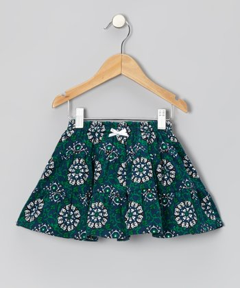 Blue Paisley Tiered Skirt - Toddler & Girls