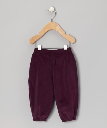 Plum Corduroy Pants - Infant